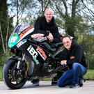 Revved up: KMR team boss Ryan Farquhar and rider Jeremy McWilliams are targeting success at the North West 200
