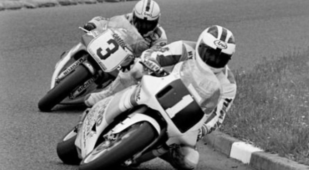 Sibling rivalry: Robert Dunlop leads brother Joey