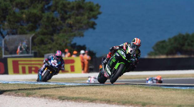 On track: Defending champion Jonathan Rea is finding form at Assen