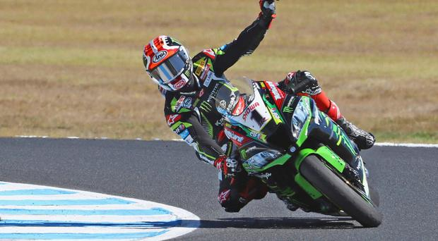 In spotlight: Jonathan Rea was penalised after causing a crash