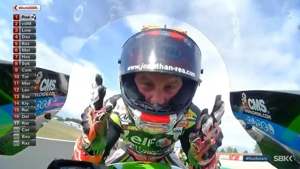 Close up: Jonathan Rea gets up close to the camera in France