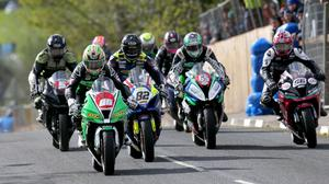 In front: Derek McGee leads at last year's Cookstown 100