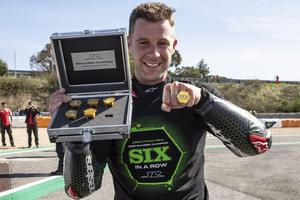 Joy of six: Jonathan Rea shows off his championship rings