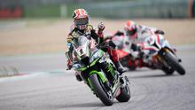 Top form: Jonathan Rea won the World Superbike opener in Qatar last night