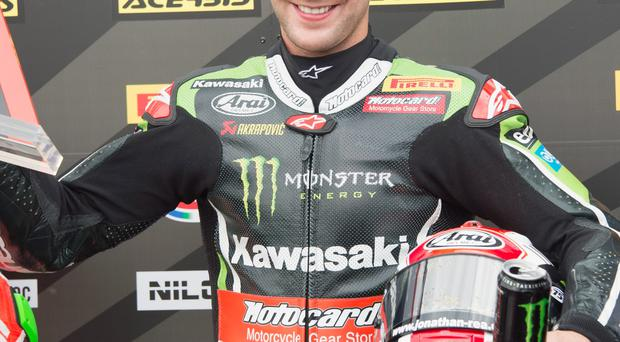 Top man: Jonathan Rea leads the World Superbike standings