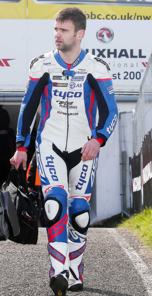 Robert's boys: Michael Dunlop and William Dunlop (pictured) will be going all out to make sure their dad's NW200 record tally of 15 race wins stays intact for at least another year