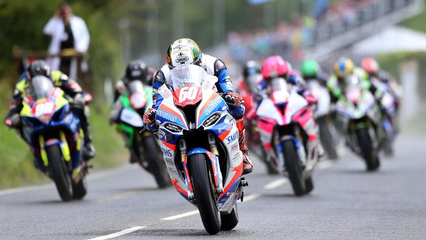 Out in front: Peter Hickman wowed at last year's Ulster Grand Prix with a 136.415mph lap that regained the event the title of 'World's Fastest Road Race'