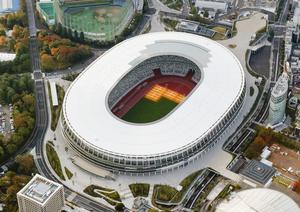 Planning ahead: the Olympic Stadium in Tokyo may have to wait a little longer to welcome the world's best athletes