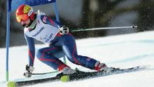 Kelly Gallagher stays cool to win the Super G event at the Sochi Paralympic Games yesterday in a time of 1:28:72