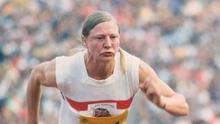 Golden girl: Lady Mary Peters en route to success at the 1972 Munich Games