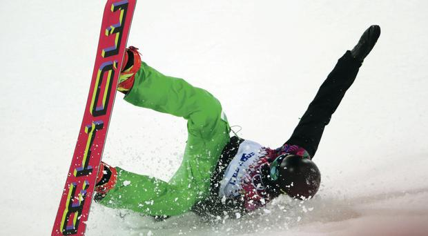 Spectacular: Seamus O'Connor during the Halfpipe competition in Sochi