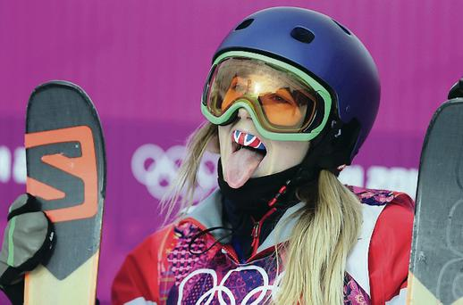 Teen spirit: Katie Summerhayes after freestyle skiing slopestyle