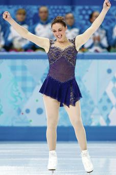 Olympic ideal: Jenna McCorkell goes into today's figure skating in Sochi full of confidence after her performance in the team event