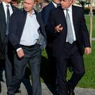 Unclear position: Russian President Vladimir Putin and Minister of Sport Vitaly Mutko, whose job is unsafe