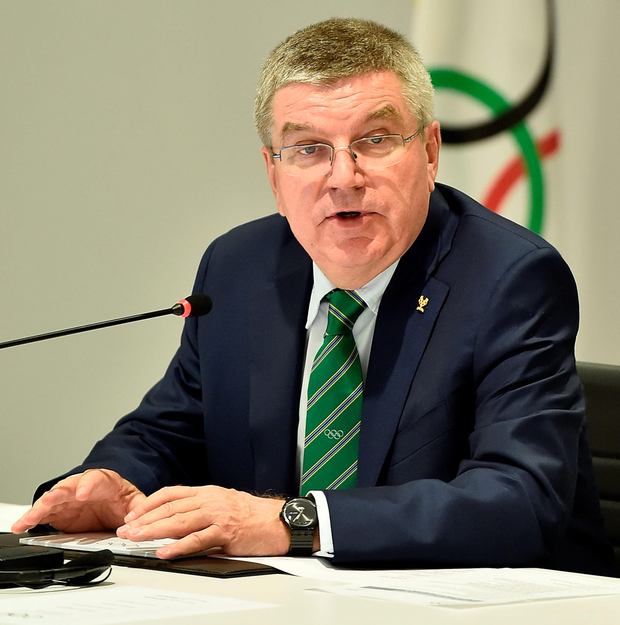 Unhappy: IOC's Thomas Bach hit out at the McLaren Report