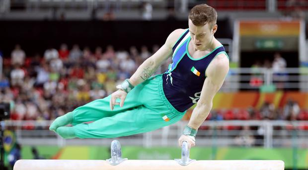Kieran Behan finished 38th in qualification for the men's all-around individual event in Rio