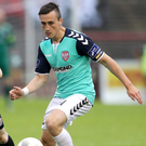 Cool head: Aaron McEneff fired in two penalties for Derry City last night