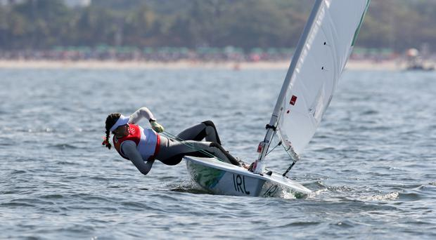 Ireland's Annalise Murphy won silver in the Laser Radial