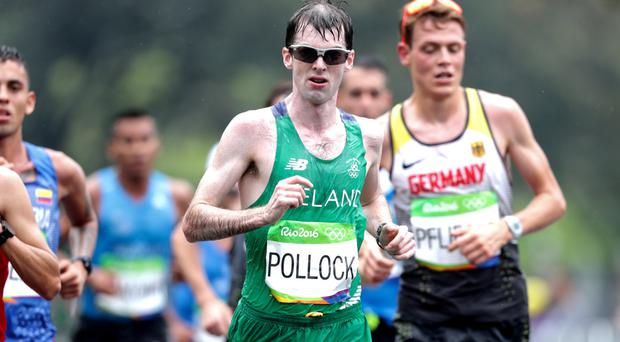 Major strides: Mark Pollock narrowly missed his aim of a top 30 placing in the marathon but was still the top Irish finisher in Rio