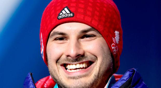 All smiles: Dom Parsons shows off his skeleton bronze medal