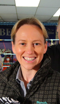 Boxing clever: Cathy McAleer is remaining upbeat