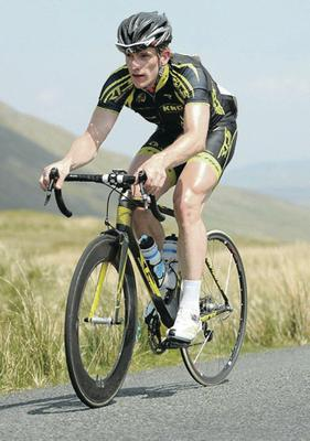 On his bike: Martyn Irvine defends his World title