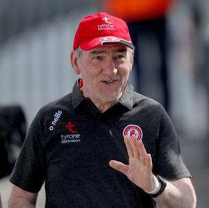 Long serving: Mickey Harte was synonymous with Tyrone for many years