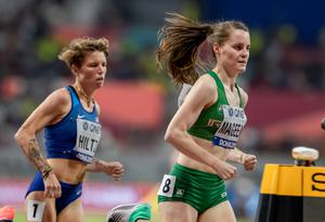 Ciara Mageean competing in last yeat's 1,500m final at the World Championships in Doha