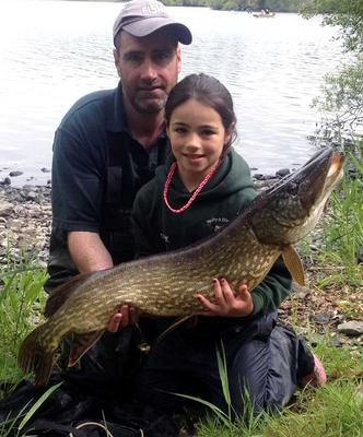 Whopper: Clíodhna McKenna shows off her big pike landed at Lough Muckno