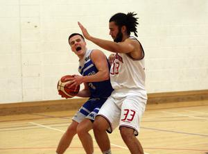 In control: Belfast Star ace Aidan Quinn looks to get the better of Templeogue's Neil Randolph