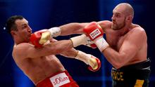 Heavy hitter: Tyson Fury fighting Wladimir Klitschko