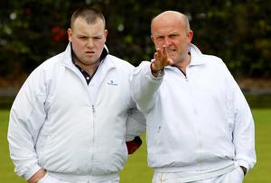 Terry Crawford (left) lost in the singles final to Ryan O'Neill