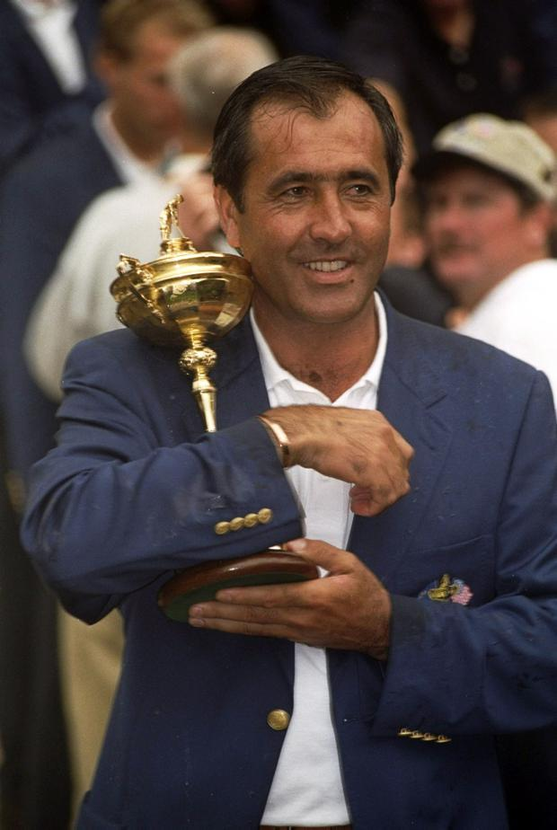 The late Seve Ballesteros