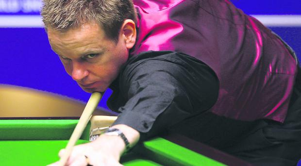 Joe Swail battled his way to within one match of a place in the World Championship at the famous Crucible