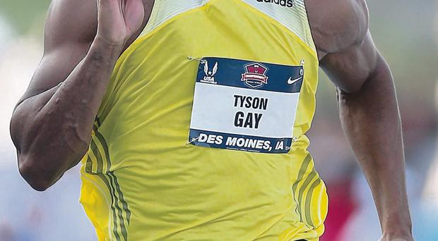 Tyson Gay was one of a number of athletes who failed a recent drugs test