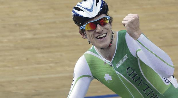 Number one hit: Martyn Irvine after World Championship win in Belarus