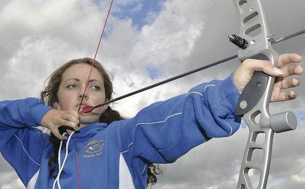 Aiming high: Sophie Benton is a UK champion less than a year after taking up the archery
