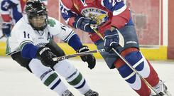 Ice cool: Tatarstan were 11-1 winners over Montreal yesterday