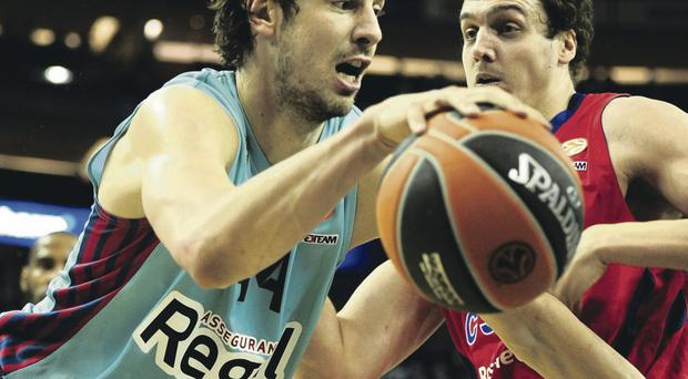 Star gazing: Ante Tomic of FC Barcelona (left) will be on of the top players making their way to Belfast for the Tayto Tournament