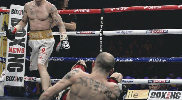 Waiting game: Carl Frampton may have to wait to get another shot at Kiko Martinez, having knocked him out in February