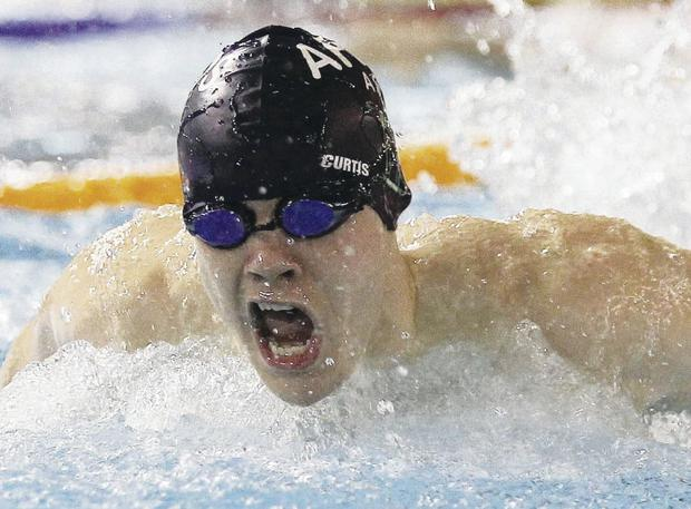 Making a splash: Curtis Coulter won triple gold at the Ulster Open