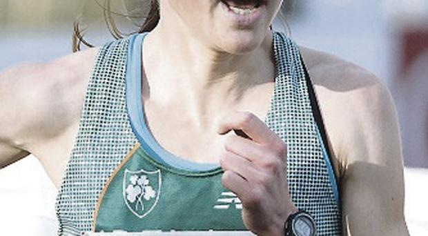 So close: Fionnuala Britton failed to secure a medal