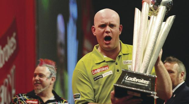 Eager: Michael Van Gerwen is looking forward to playing in a packed Odyssey Arena