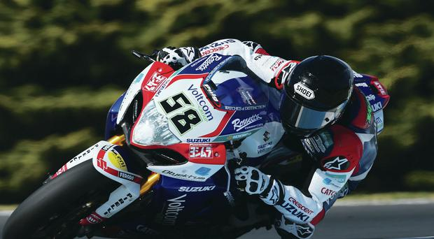 High hopes: Eugene Laverty, on his new Suzuki, is primed for World Superbike title bid