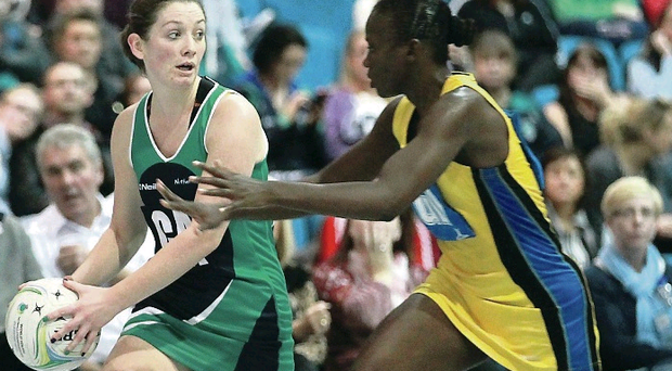 Tight battle: Northern Ireland trailed Barbados at half time, but showed their character to battle back and emerge 44-35 victors