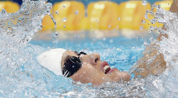 New challenge: Melanie Nocher, in action at London 2012, is making big impact with Swim Ireland