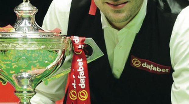 On cue: Mark Selby has revealed hard work was behind title win