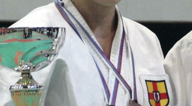 Double aim: Cathy McAleer is a former karate world champion