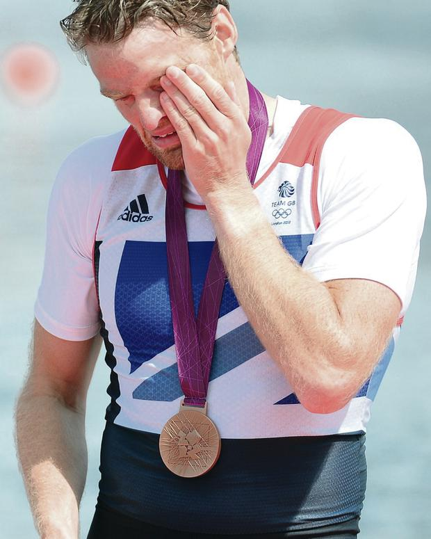 Not happy: Olympic bronze medallist Alan Campbell has been left out of the GB squad for the Worlds