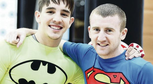 Going for gold: Good pals Michael Conlan and Paddy Barnes are hoping to share memories of medal triumphs